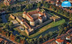 Medieval fortress castle Fagaras Transylvania Romania eastern europe beautiful scenery