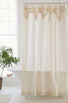 Topanga Fringe Shower Curtain - Urban Outfitters