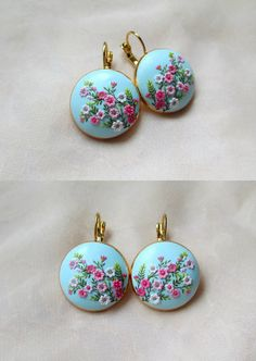 Sakura Earrings Handmade Jewelry Sakura blossoms Japan Japanese Cherry Blossom Oriental Earrings with crystals by Lena Japanese Spring Polymer Clay Flowers, Handmade Polymer Clay, Polymer Clay Earrings, Etsy Earrings, Earrings Handmade, Handmade Jewelry, Polymer Clay Embroidery, Romantic Gifts For Her, Jewelry Show