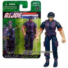 "Hasbro GI JOE A Real American Hero Valor vs. Venom 4"" Tall Figure - Cobra Communications Specialist TELE-VIPER with Helmet, Gun, Shotgun & Radio"