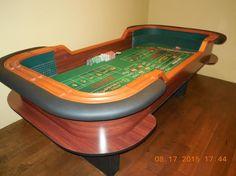 10 foot mahogany craps table, rental style