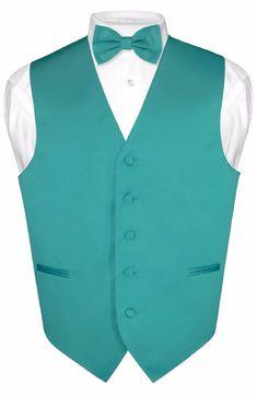 Vest Boys Jade Teal Satin Bow Tie Ring Bearer Wedding Party Birthday Formal