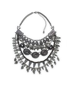 NECKLACE WITH STONES AND COMBINATION CHAINS - Jewellery - Accessories - WOMAN | ZARA United States
