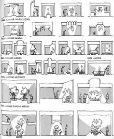 Vocabulario de Formas Arquitectónicas: Natural y Artificial Light Architecture, Concept Architecture, Architecture Drawings, Sustainable Architecture, Architecture Details, Light Study, Concept Diagram, Light And Space, Section Drawing
