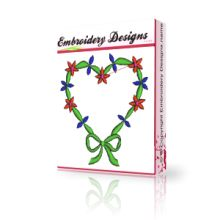Valentine heart advanced machine embroidery designs project
