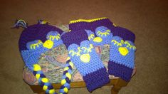 Handmade crochet sleepy owl hat diaper cover and leg by darstar5