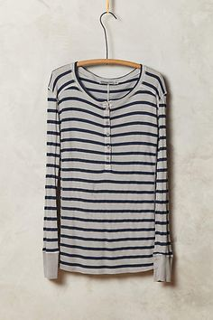 Striped Thermal Tee - anthropologie.com #anthroregistry