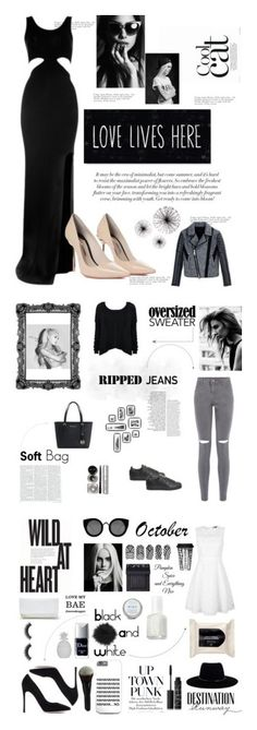 """""""Black and white Collection"""" by xestherkoopmans on Polyvore featuring mode, Tommy Hilfiger, Gianvito Rossi, Bebe, Quay, Zimmermann, La Senza, GUESS, NARS Cosmetics en Essie"""