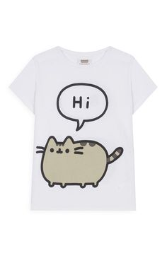 White Pusheen T-shirt Pusheen T Shirt, Gato Pusheen, Pusheen Love, Pusheen Birthday, Cute Pajamas, Primark, Cat Dad, Love To Shop, Cosplay Outfits