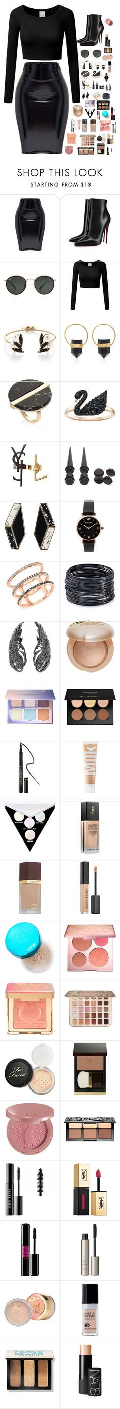 """""""Untitled #108"""" by fanii572 ❤ liked on Polyvore featuring Christian Louboutin, Ray-Ban, Anton Heunis, Isabel Marant, Swarovski, Yves Saint Laurent, Hot Topic, Emporio Armani, EF Collection and ABS by Allen Schwartz"""
