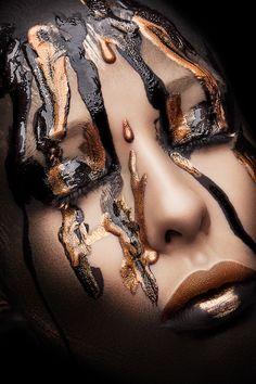 Black & Gold Beauty on Makeup Arts Served