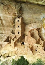 Square Tower House, Mesa Verde National Park, Colorado- this was awsome-daddy and i loved it!!!