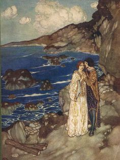 Ferdinand: Here is my hand; Miranda: And mine, with my heart in't - Shakespear's Comedy of The Tempest, 1908