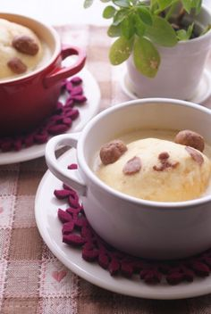 panda bread pudding of coconut flavor