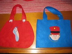 Toy soldier and ballerina party bags