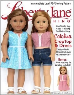 """CATALINA CROP TOP AND DRESS 18"""" DOLL CLOTHES"""
