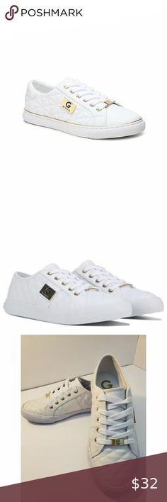 Guess Sneakers Beautiful Brand New quilted white sneakers
