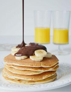 Las auténticas tortitas americanas American Pancakes, Winter Coffee, Crepes, Food Photography, Food Porn, Brunch, Food And Drink, Meals, Chocolate