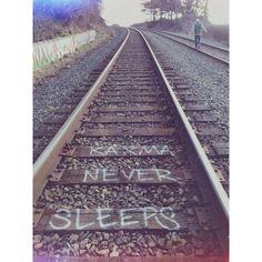 Bellingham, Washington. Karma never sleeps. Love these hippie PNW train tracks.