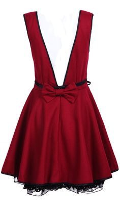 Red Backless Bow Dress ♡ so cute for Christmas!