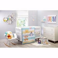 Beautiful Aqua Yellow Grey Winnie The Pooh Tigger Eeyore 4-PC Crib Bedding Set