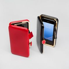 LULU GUINNESS Shiny Patent iPhone 5 Clutch, Red or Black