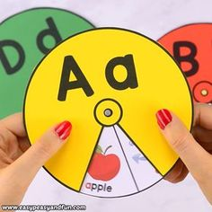 Help the kids master the alphabet with this printable alphabet spinners. Practice the ABC's or beginning letters with cute images kids will uncover as they spin the wheel.