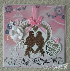 A Passion For Cards: 2 cards - pretty pinks and plain deep shades