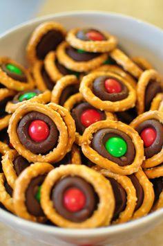 Pretzel M&M Bites For Christmas [Made Monday, December 9, 2014]