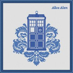Cross Stitch Pattern TARDIS Doctor Who Police Box by HallStitch