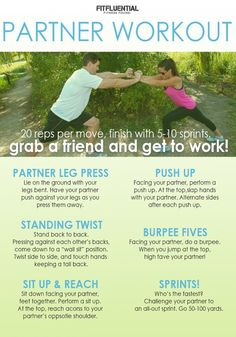 partner workout - try this exercise routine with your favorite fitness partner!