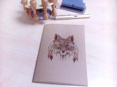 Libreta lobo - accesorios de papelería - en DaWanda.es