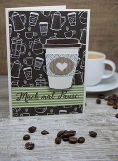 Gestaltet mit dem tollen neuen Produktpaket Kaffee olé von Stampin Up. Der Spruch ist aus dem Stempelset Jahr voller Farben.