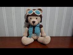Como fazer Urso Aviador Amigurumi - YouTube Crochet Bear, Teddy Bear, Toys, Youtube, Animals, Crochet Sun Hats, Amigurumi Doll, Bears, Classroom