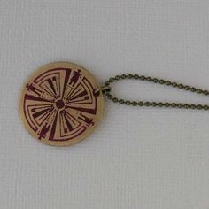 Haven TV show Pink Guard brass circle pendant by WanderingJeweler, $24.00