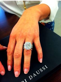 This would be my ultimate dream ring! I love Henri Daussi designs :) Treat yourself with Henri Daussi's splendor! Diamond Engagement Rings, Wedding Engagement, Wedding Bands, Huge Wedding Rings, Huge Diamond Rings, Ring Set, Ring Verlobung, Bling Bling, Do It Yourself Fashion