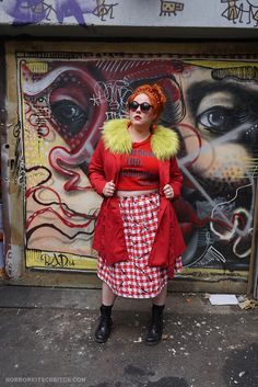I'm a Blogger Too... #NoShade. Crop Top from Rue 107. HorrorKitschBitch.com for plus size fashion and alternative curves Disney Princess Tattoo, Punk Princess, Alternative Girls, Alternative Fashion, Alternative Disney, Eccentric Style, Plus Size Fashionista, Cold Weather Outfits, Retro Dress