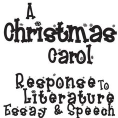 Essay about a christmas carol by charles dickens