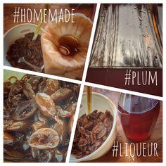 Homemade plum liqueur. Made from hooch.