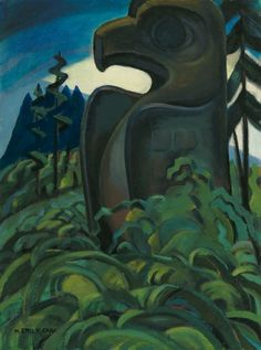 Eagle Totem is 'a mature period Emily Carr oil-on-canvas on First Nations subject matter — one of the rarest treasures in Canadian art,' said Robert Heffel