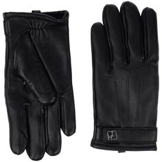 French Connection Gloves ($55) ❤ liked on Polyvore featuring accessories, gloves, black, black gloves, black leather gloves, leather gloves and french connection