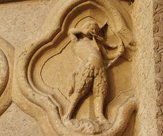 Zodiac signs at the portal of Amiens Cathedral - Sagittarius