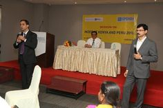 Kotak Mahindra officials interacting with the speakers
