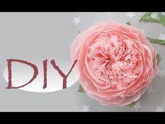 Большая пионовидная роза из бумаги DIY Tsvoric - YouTube