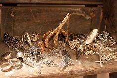Crushing on Pamela Love's jewelry---eagle claws, raven skulls, arrowhead rings, and silver daggers.  Sooooo cool!