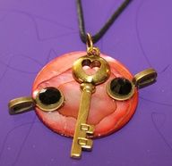 Key Dial Necklace/Pendant by GrayStormCreations on Etsy, $12.00