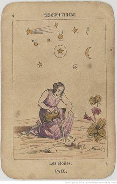 """[Jeu de tarot de fantaisie """"égyptien"""" à enseignes italiennes, dit """"Grand Etteilla""""] : [jeu de cartes, estampe]   Gallica"""