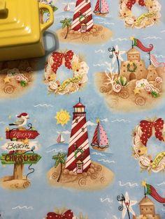 Christmas Beach Kitchen Dish Drying Mat by MakingSomethingHappy
