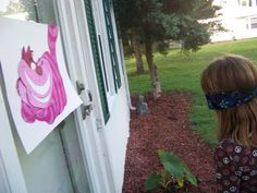 "Game idea: ""pin the grin"" on the cheshire cat!"