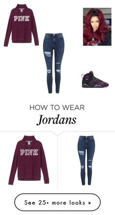 """""""Untitled #73"""" by lifeofmacy on Polyvore featuring Topshop, Victoria's Secret and NIKE"""